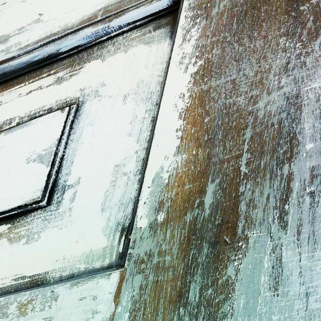 Åldrad dörr.