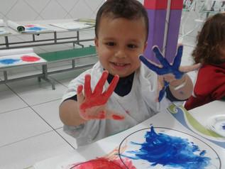 Pintura com os dedos
