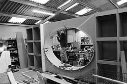 Craftsman making furniture