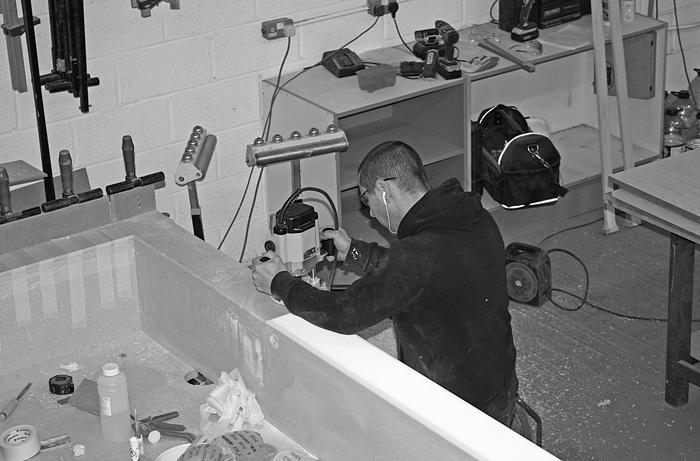 Craftsman making bespoke furniture