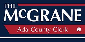 Phil McGrane for Clerk Logo