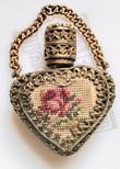 Needlepoint decorative perfume bottle