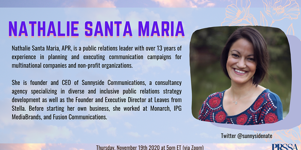 Weekly Meeting - Nathalie Santa Maria