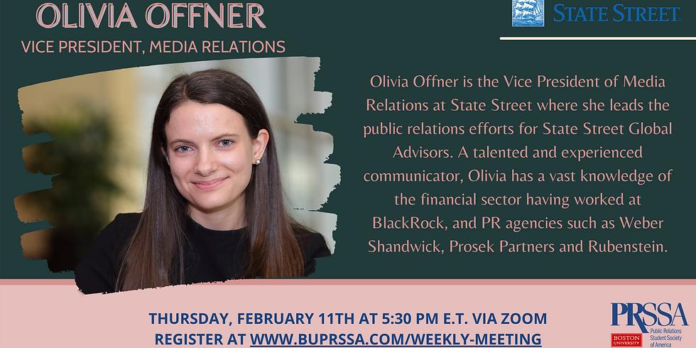 Weekly Meeting - Olivia Offner