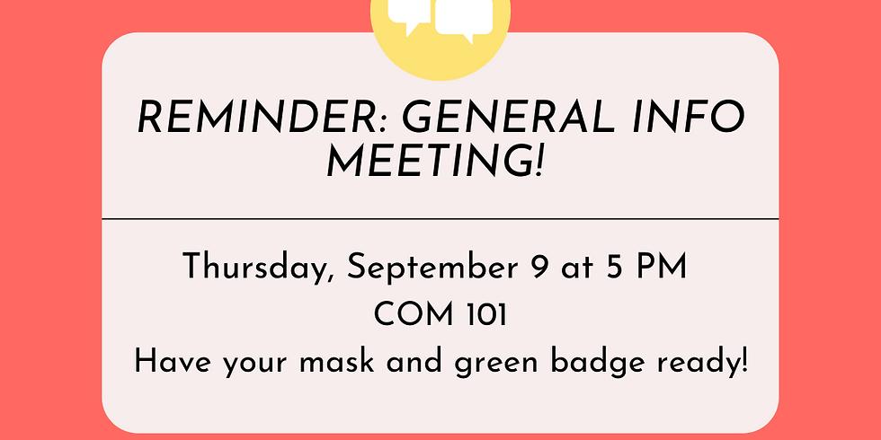General Info Meeting