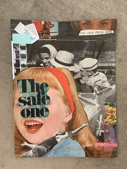 safe one - mixed media analog collage