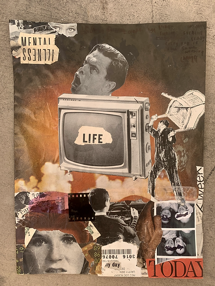 time changes - mixed media analog collage
