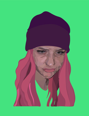 stink face abstract graphic portrait