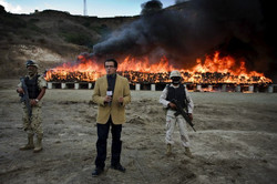 Military burns 70tons of drugs