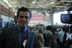 Barack Obama's visits camp Pendelton