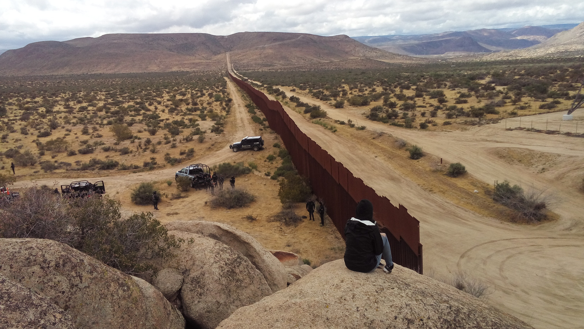 Limit of the USA/Mexico border wall