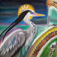 Grey Heron Creating the World