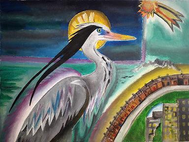 Grey Heron Creating the World.jpg