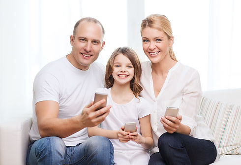 family, child, technology and home conce