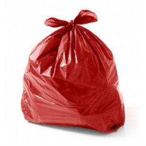 Saco para lixo Vermelho