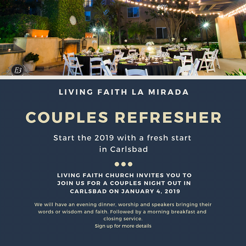 """Living Faith """"Marriage Refresher 2019"""""""