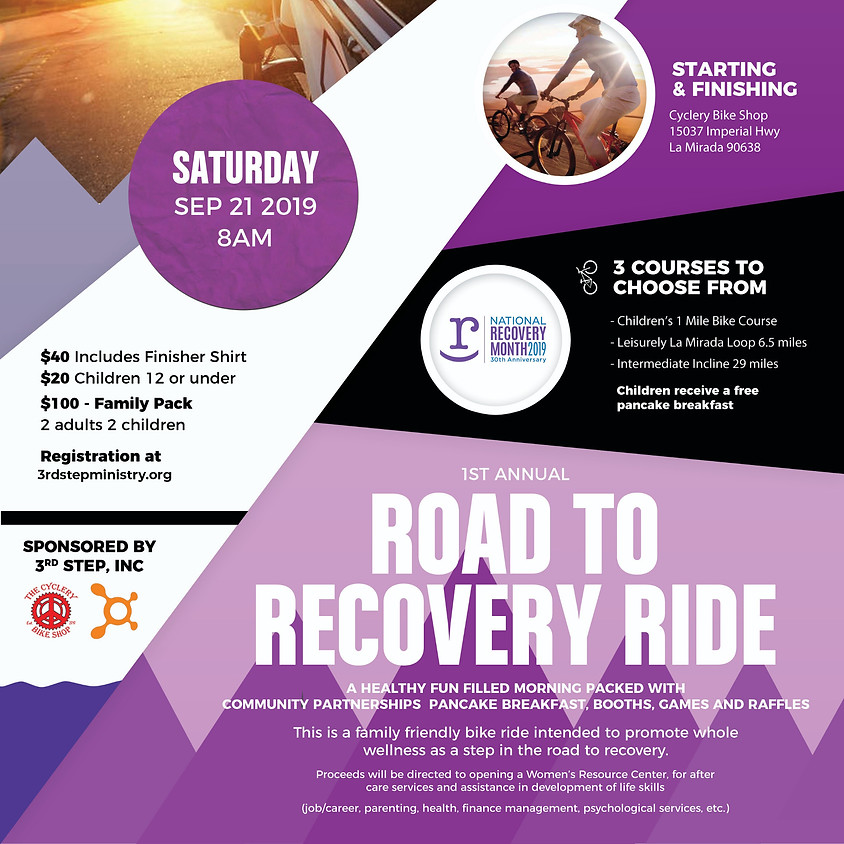1st Annual Road To Recovery Ride