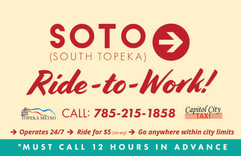 SOTO Ride to Work Sign