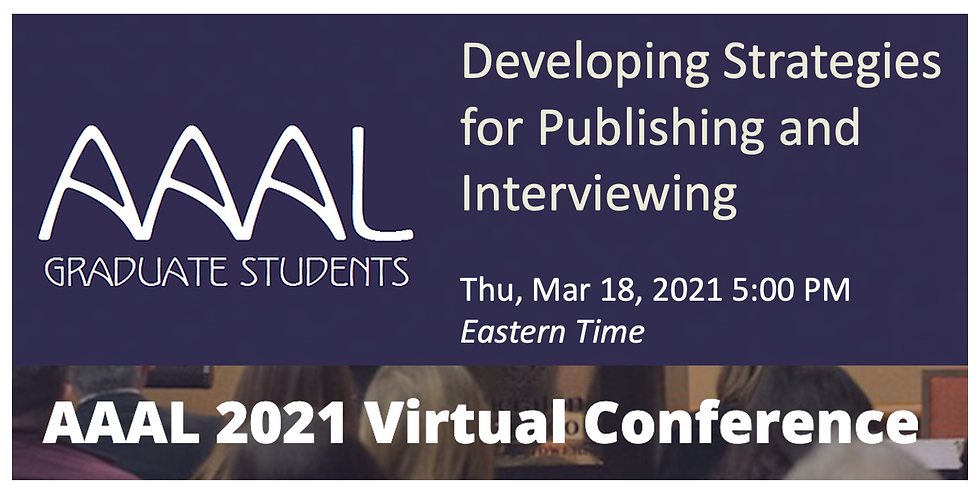 Developing Strategies for Publishing and Interviewing Along the Way to the Job Market