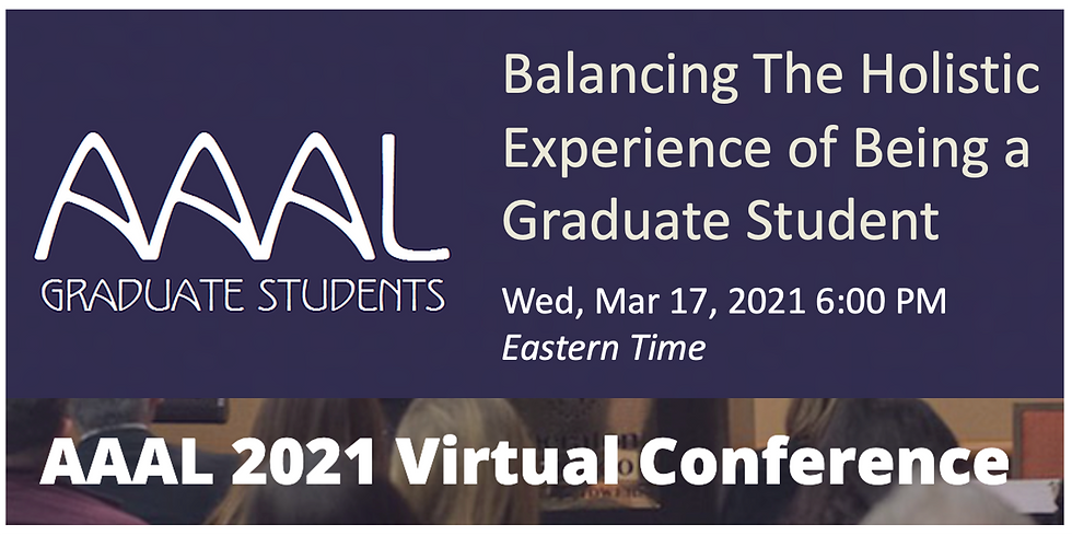 Balancing the Holistic Experience of Being a Graduate Student