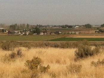 the farm from a distance