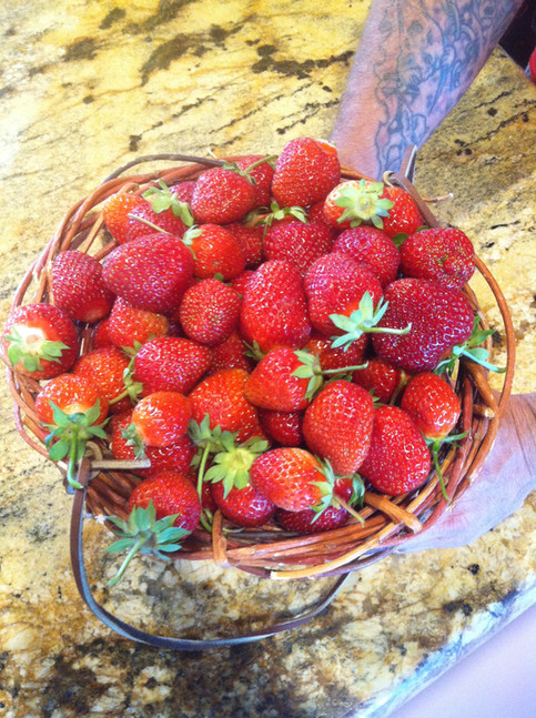 Strawberries by the pint for $3.00