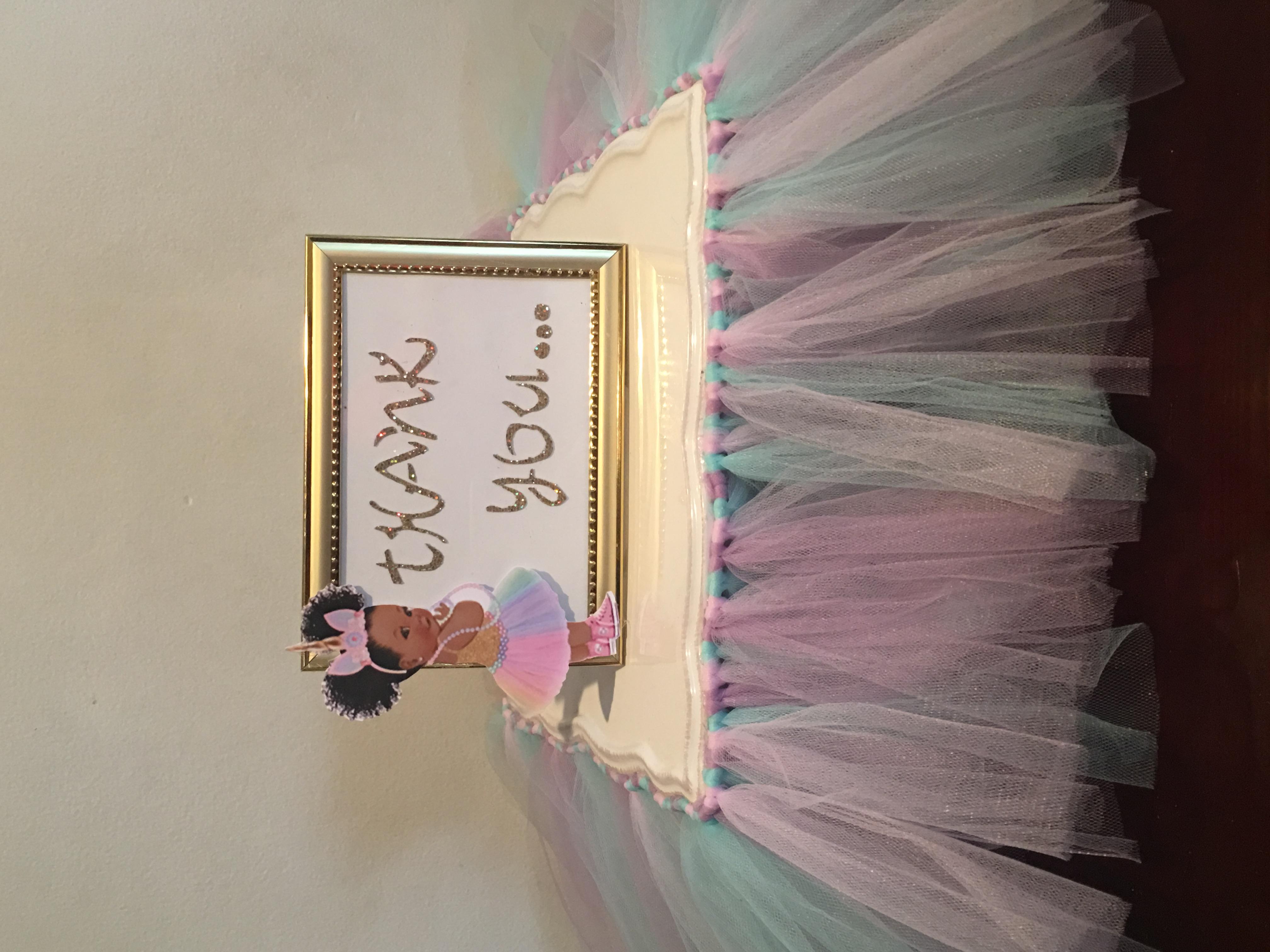custom tutu for cake stand