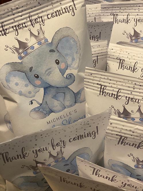 Baby Blue Elephant themed custom package
