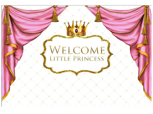 Welcome Little Princess Backdrop