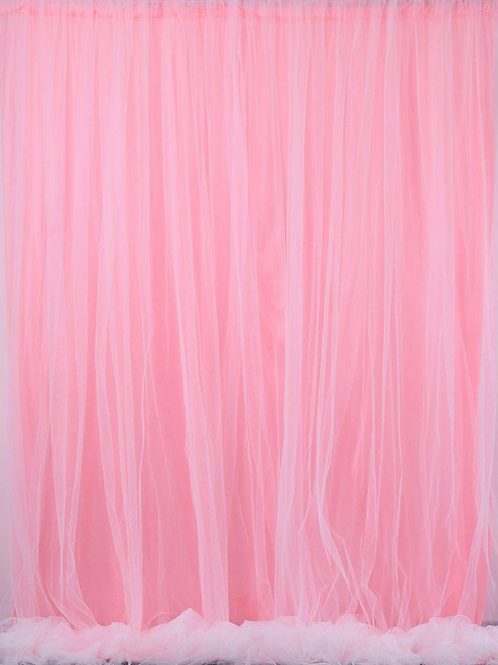 Pink Draping with Tulle Overlay