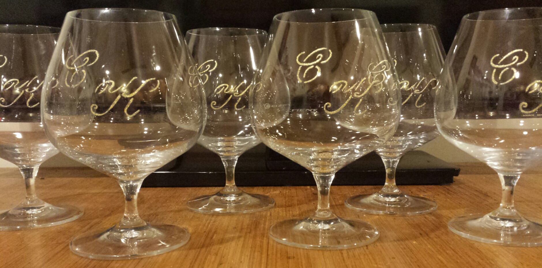 Monogrammed Brandy Glasses
