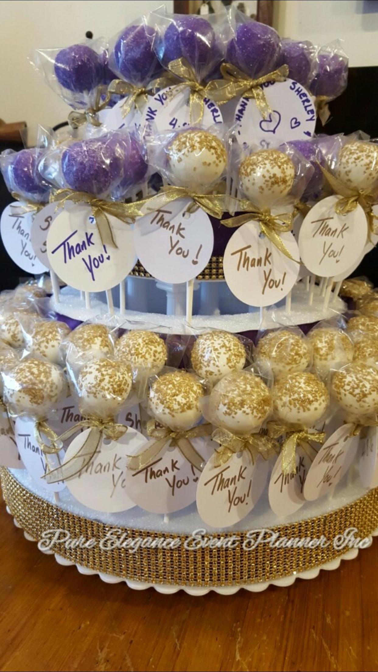 wedding favors/cake pops