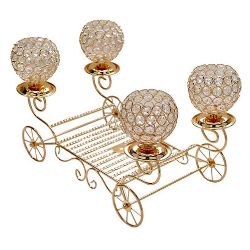 Gold Carriage Candle Holder