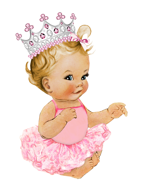 Royal Princess Pink Tutu Silver Crown Instant Download