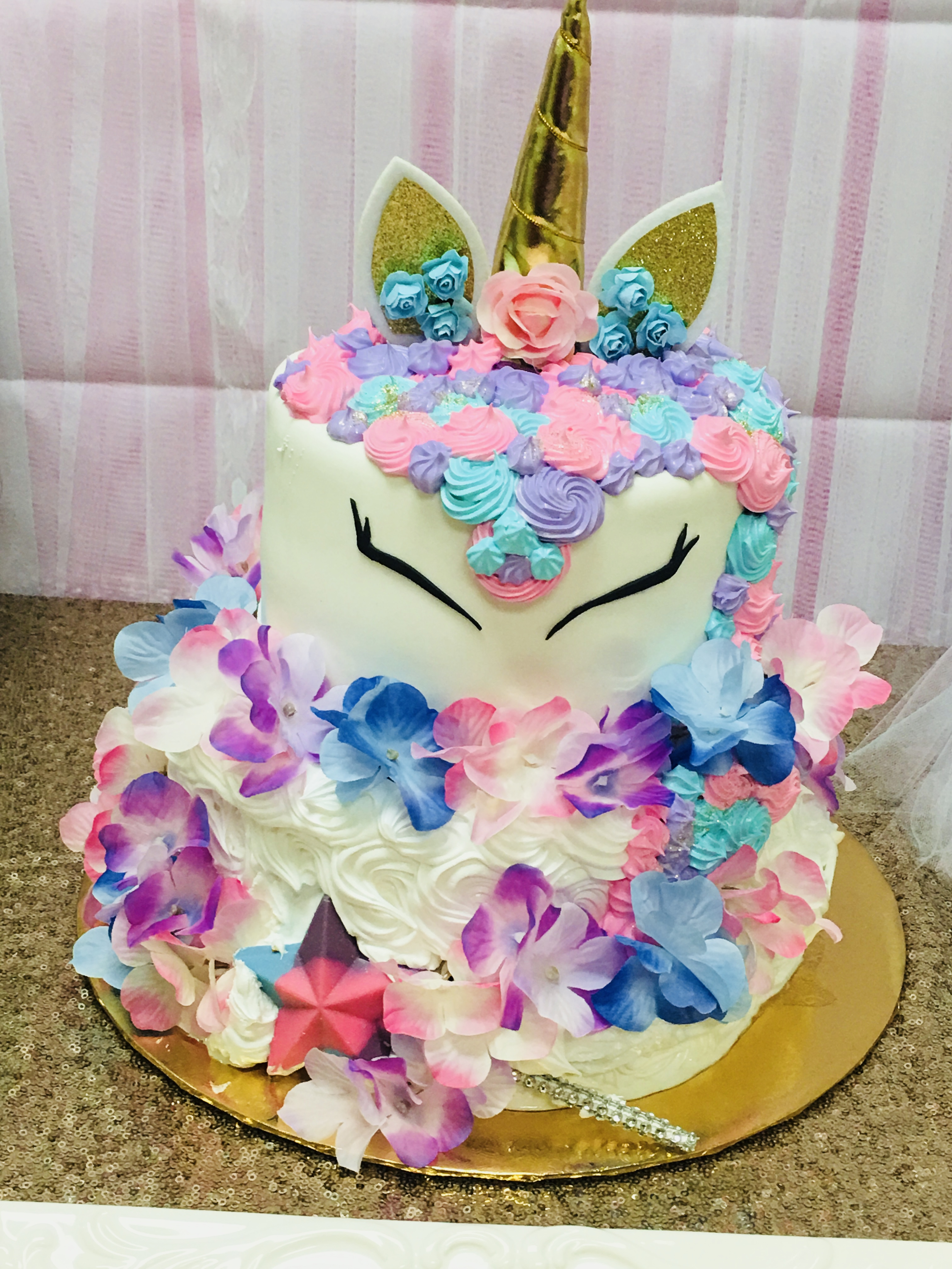 unicorn themed kids cake