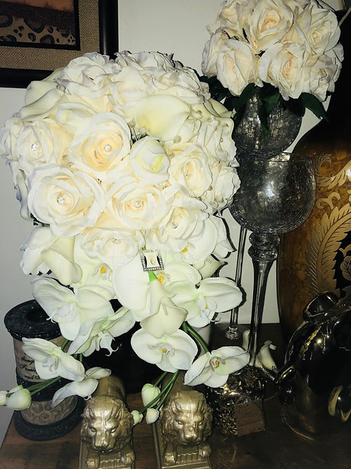 Cascading Bridal Bouquet-Ivory