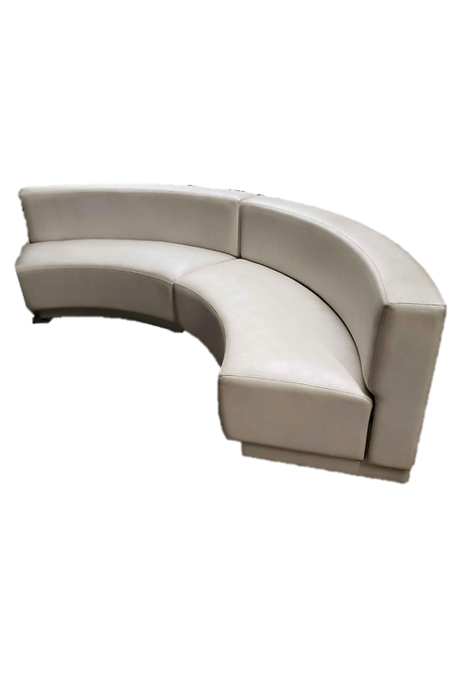 White Curved Banquettes