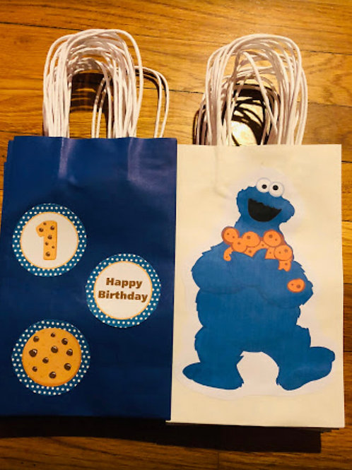 Cookie Monster Themed Treat Bags