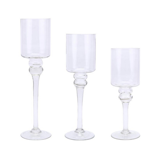 3 Tiered Glass Candle holders