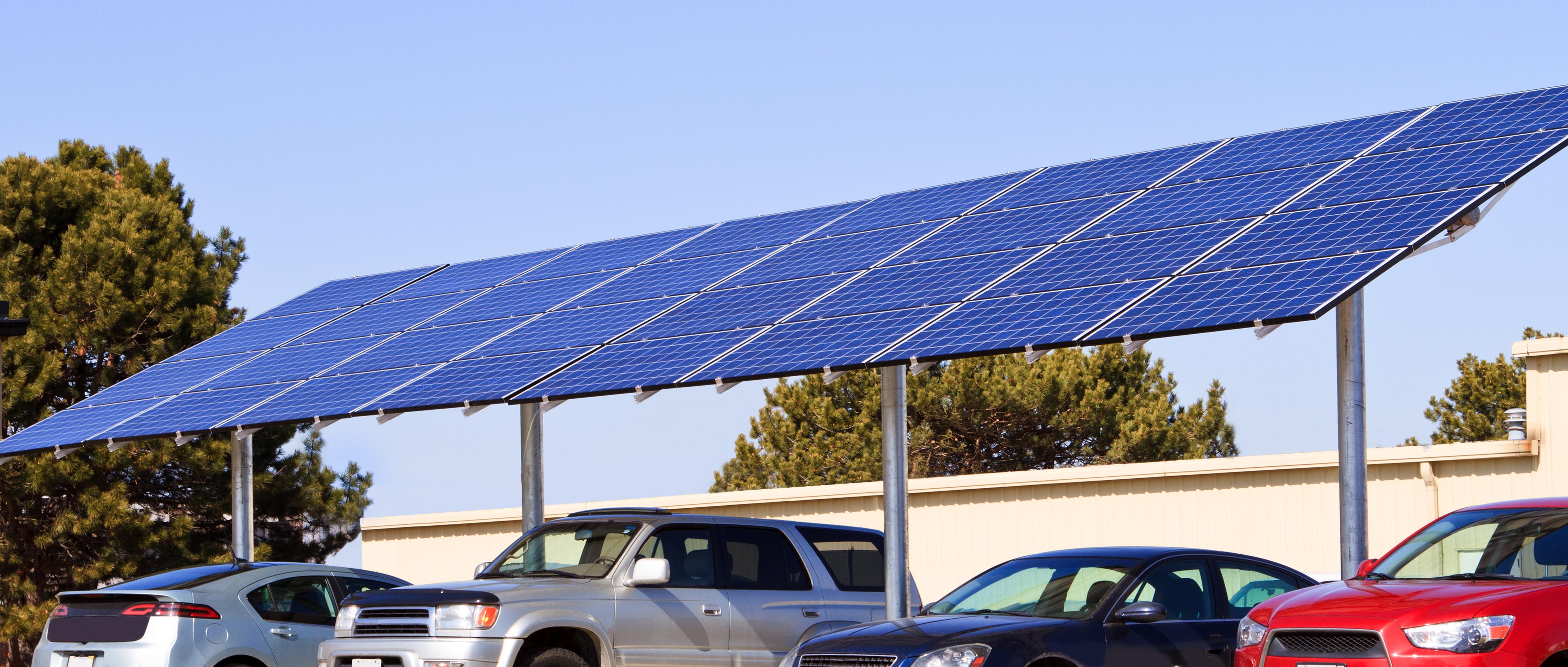 Minimal Space Solar Car Port
