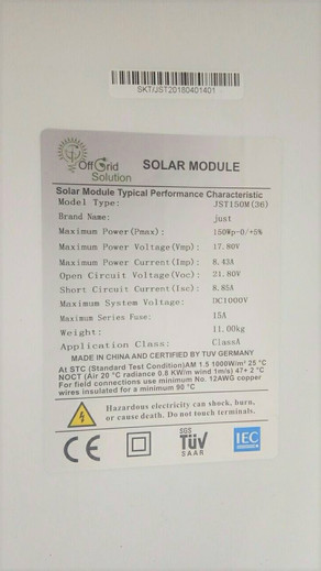 Our custom made PV modules have arrived. Factory coated with a custom layer of nano-solution that he