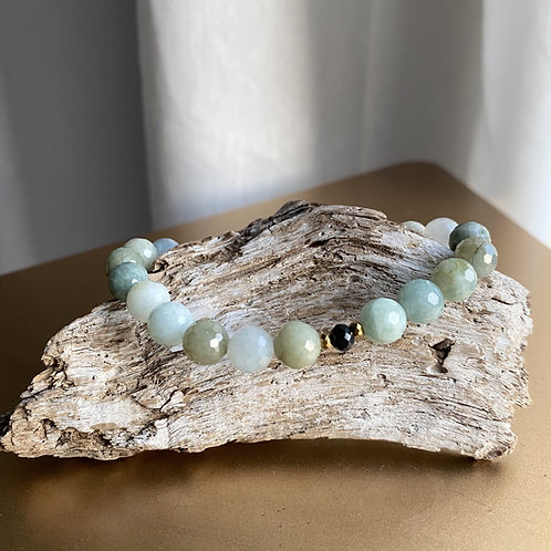 Jade + Green Tourmaline Bracelet