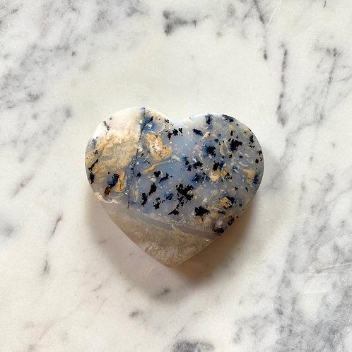 Dendrite Agate heart