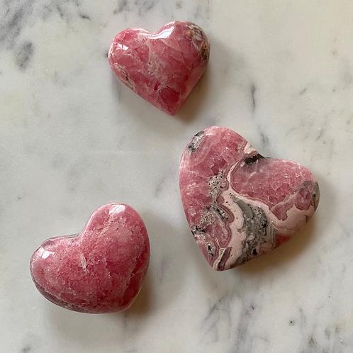Rhodochrosite Heart (Grade A)