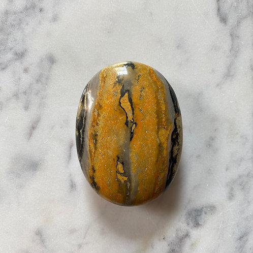 Bumblebee Jasper Palm Stone