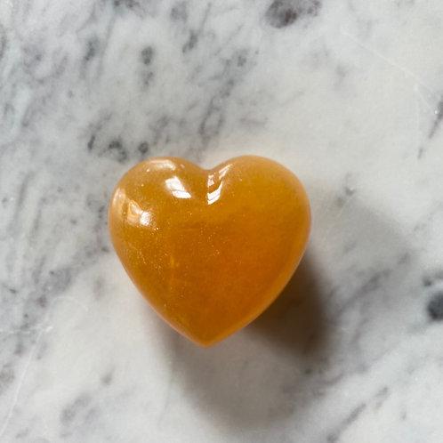 Orange Calcite Heart