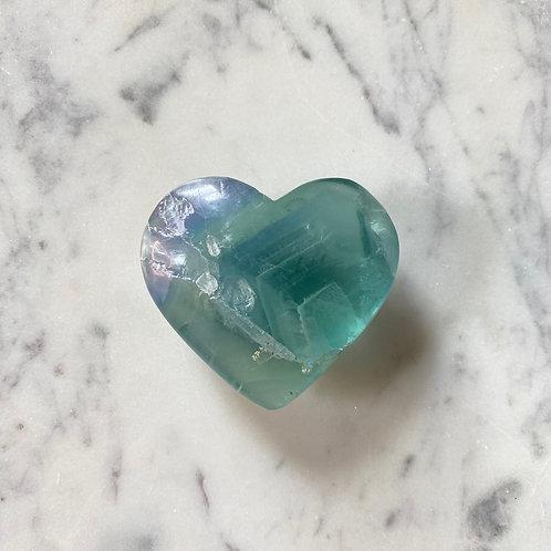 Green Fluorite Heart
