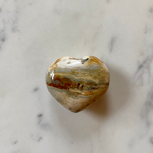 Small Agate Heart (warm tones)