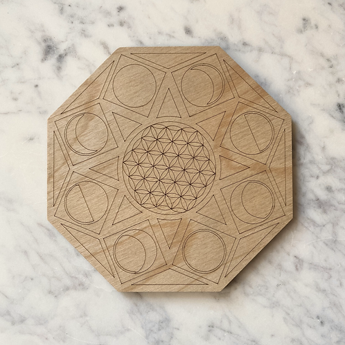 Flower of Life + Moon Phases Grid
