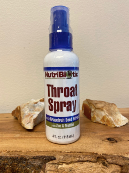 NutriBiotic - Throat Spray with Grapefruit Seed Extract, PLUS Zinc & Menthol